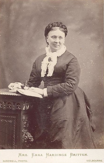 Emma Hardinge Britten, Melbourne, 1878: from the National Australian Library