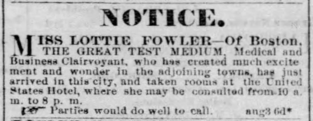 Parties Would Do Well to Call: Some Notes on Lottie Fowler